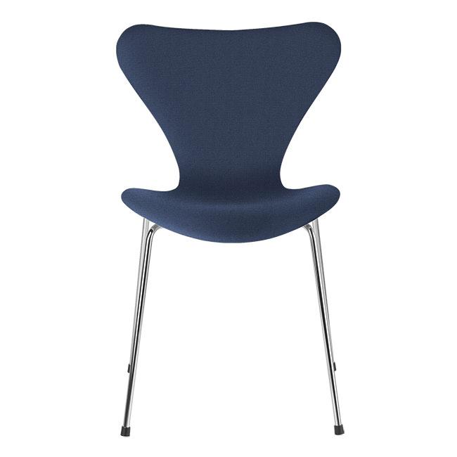 [Fritz Hansen/프리츠한센] Series 7 Chair Blue Uni (fully upholstered, fabric) / 시리즈 7 체어 Blue Uni