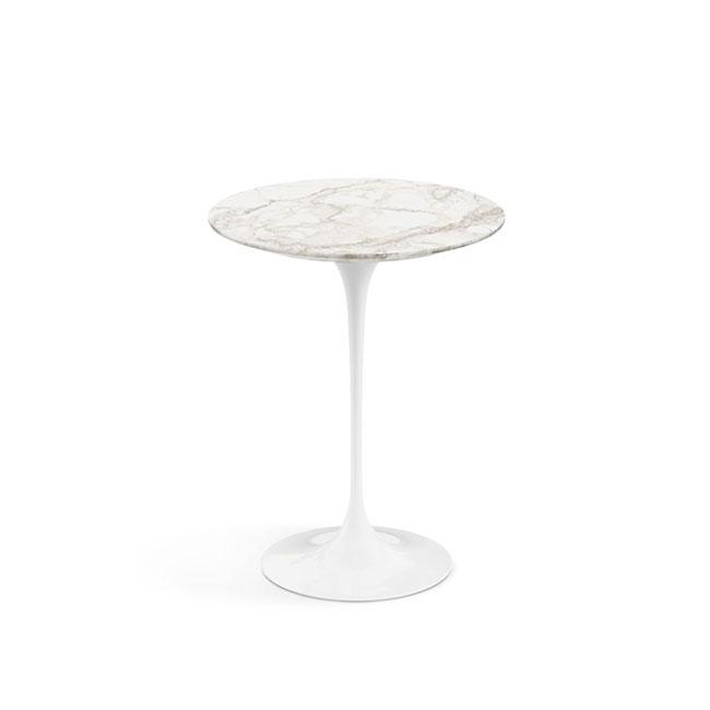 [Knoll/놀] Saarinen Side Table, Ø 41-Calacatta // 사리넨 사이드 테이블, Ø 41-카라카타