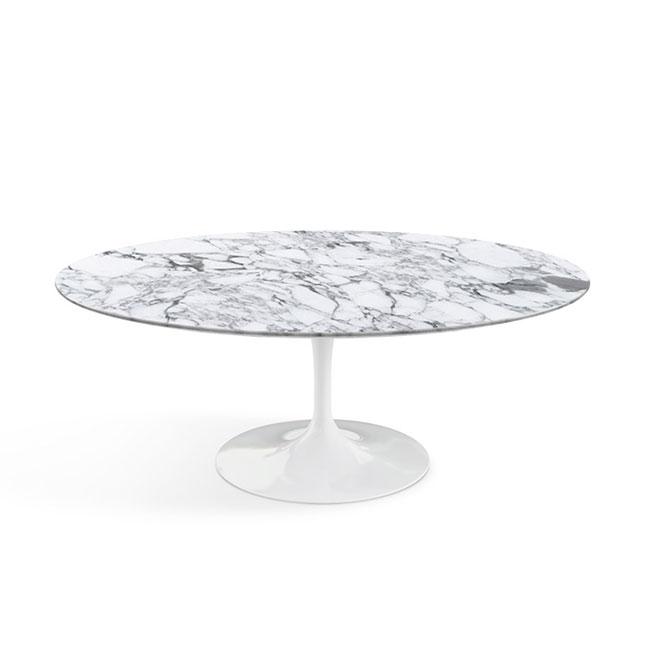 [Knoll/놀] Saarinen Coffee Table, Oval 107 x 70-Arabescato// 사리넨 커피 테이블, 오벌 107 x 70-아라베스카토