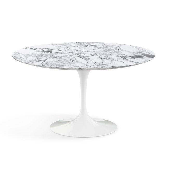 [Knoll/놀] Saarinen Dining Table, Ø 137-Arabescato // 사리넨 다이닝 테이블, Ø 137-아라베스카토