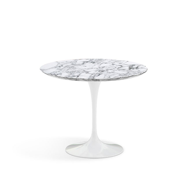 [Knoll/놀] Saarinen Dining Table, Ø 91-Arabescato // 사리넨 다이닝 테이블, Ø 91-아라베스카토