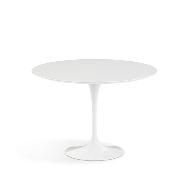 [Knoll/놀] Saarinen Dining Table, Ø 107-White // 사리넨 다이닝 테이블, Ø 107-화이트 Laminate, White / White base