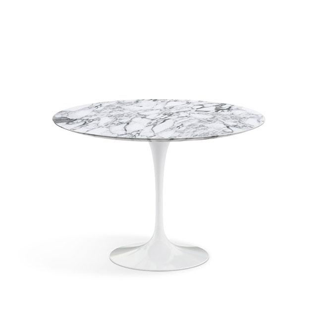 [Knoll/놀] Saarinen Dining Table, Ø 107-Arabescato // 사리넨 다이닝 테이블, Ø 107-아라베스카토