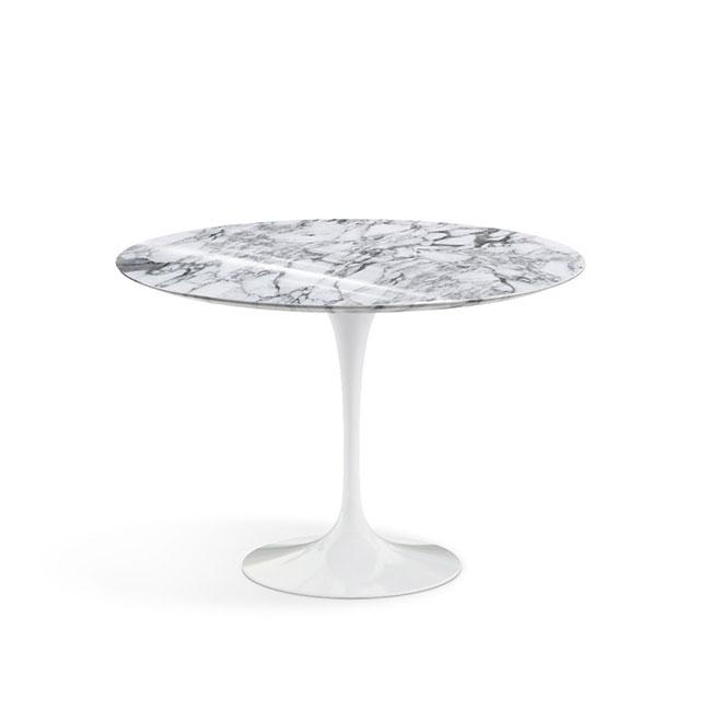 [Knoll/놀] Saarinen Dining Table, Ø 107-Arabescato White // 사리넨 다이닝 테이블, Ø 107-아라베스카토 화이트