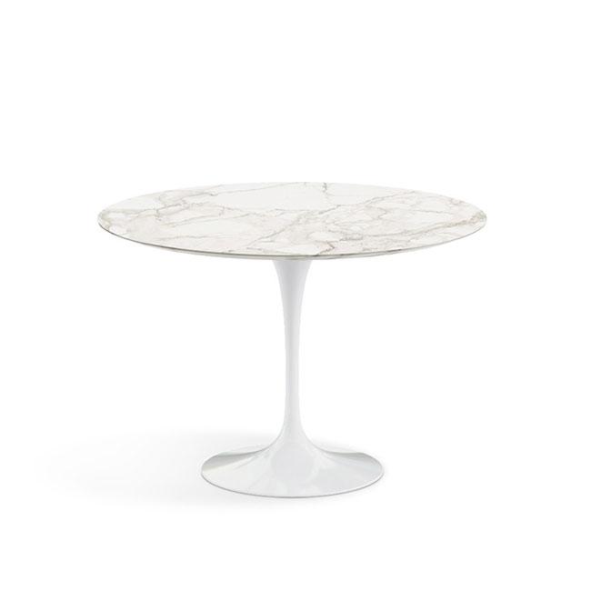 [Knoll/놀] Saarinen Dining Table, Ø 107-Calacatta // 사리넨 다이닝 테이블, Ø 107-카라카타