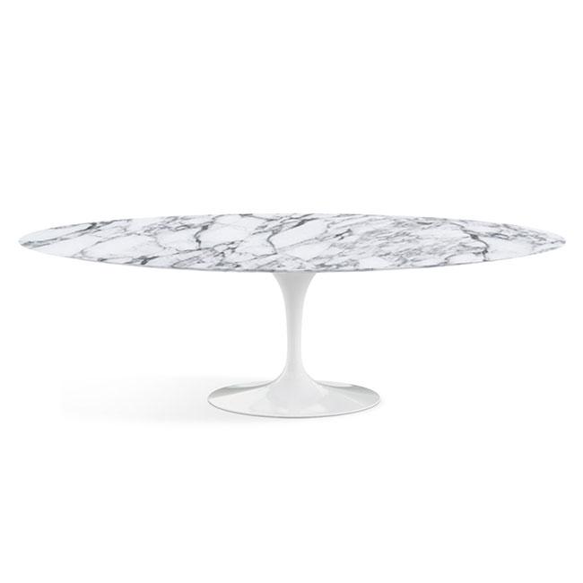 [Knoll/놀] Saarinen Dining Table, Oval 244 x 137-Arabescato // 사리넨 다이닝 테이블, 오벌 244 x 137-아라베스카토