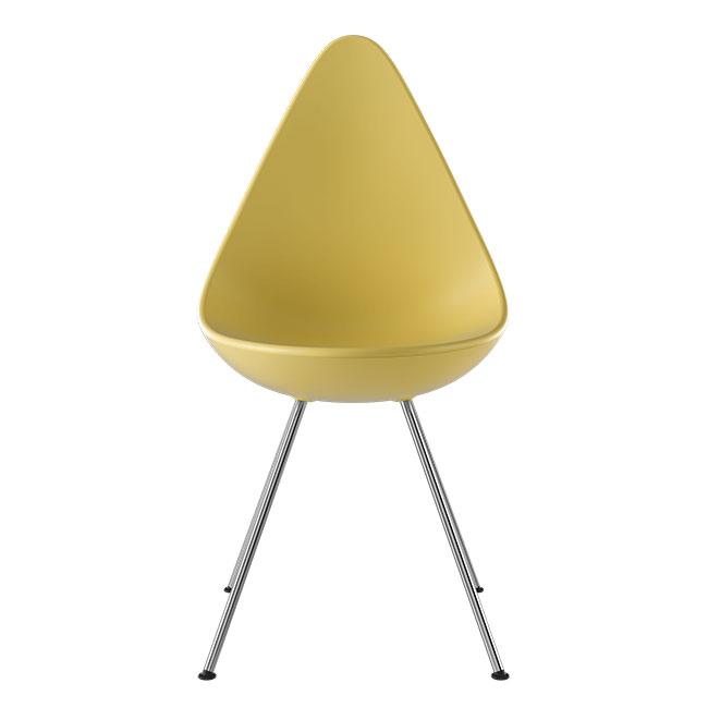 [Fritz Hansen/프리츠한센] Drop Chair 3110 Plastic - GEN-Z YELLOW (401) // 드롭 체어 3110 플라스틱 - GEN-Z YELLOW (401)