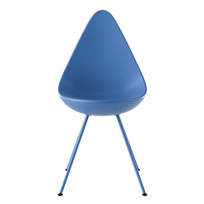 [Fritz Hansen/프리츠한센] Drop Chair 3110 Plastic - IF IN DOUBT BLUE(801) // 드롭 체어 3110 플라스틱 - IF IN DOUBT BLUE(801)