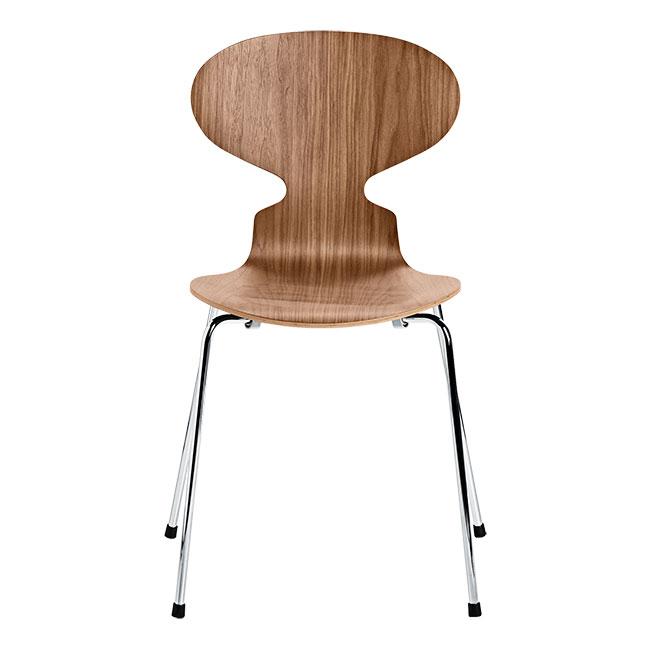 [Fritz Hansen/프리츠한센] Ant Chair 4 legs (Natural Veneer) - Walnut // 앤트 체어 4 레그 (Natural Veneer) - Walnut