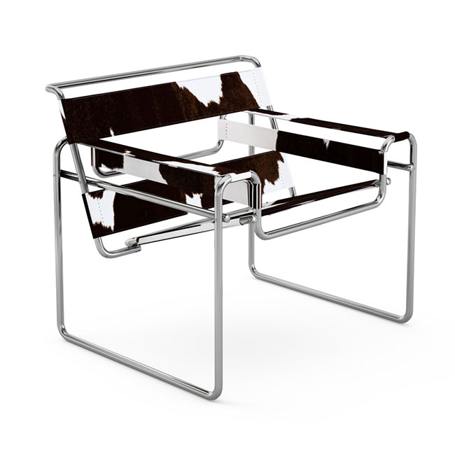 [Knoll/놀] Wassily Chair - Spinneybeck Haired Hide // 바실리 체어 - 스피니백 헤어드 하이드