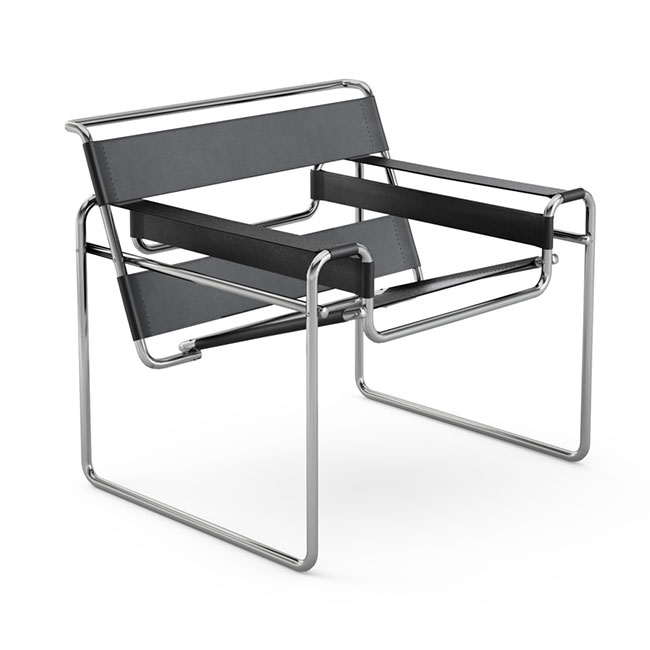 [Knoll/놀] Wassily Chair-Spinneybeck Belting leather// 바실리 체어-스피니백 벨팅 레더 (BLACK)