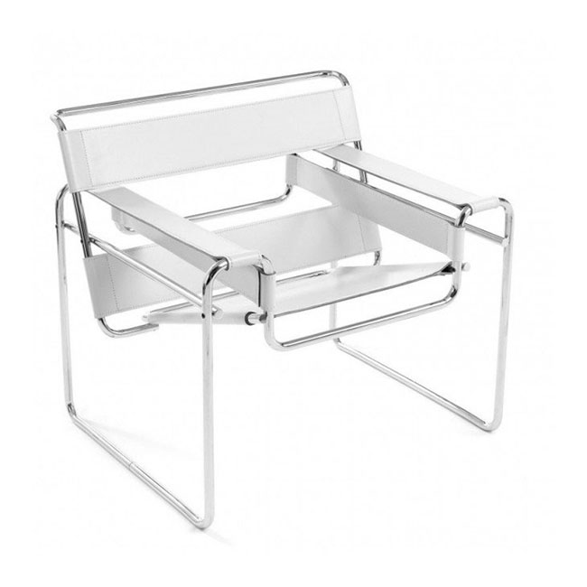 [Knoll/놀] Wassily Chair-Spinneybeck Belting leather// 바실리 체어-스피니백 벨팅 레더 white