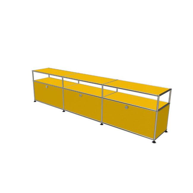 [USM Haller/유에스엠 할러] 3x2 Module System (3-bottom-door, 1-1-1-pannel, W229 x H57) // 3x2 모듈 시스템 (3-bottom-door, 1-1-1-pannel, W229 x H57)