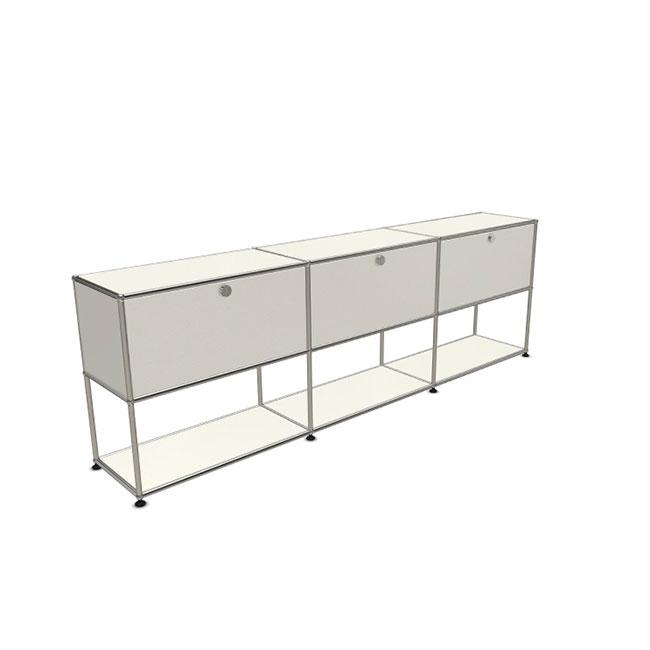 [USM Haller/유에스엠 할러] Sideboard With 3 Falling Boards above Empty Shelf below // 사이드보드 위드 3 폴링 보드 어보브 엠티 쉘프 빌로우