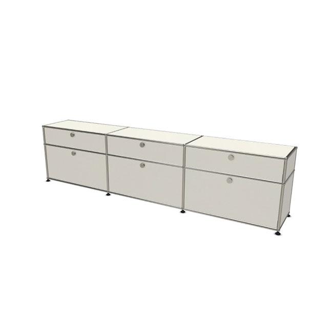 [USM Haller/유에스엠 할러] 3x2 Module System (6-door, 0-pannel, W229 x H57) // 3x2 모듈 시스템 (6-door, 0-pannel, W229 x H57)