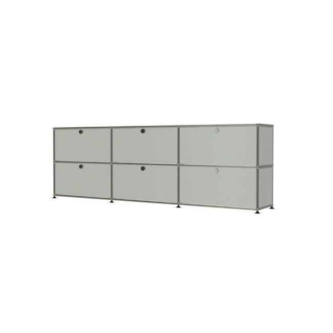 [USM Haller/유에스엠 할러] 3x2 Module System (6-door, 0-pannel, W229 x H74) // 3x2 모듈 시스템 (6-door, 0-pannel, W229 x H74)