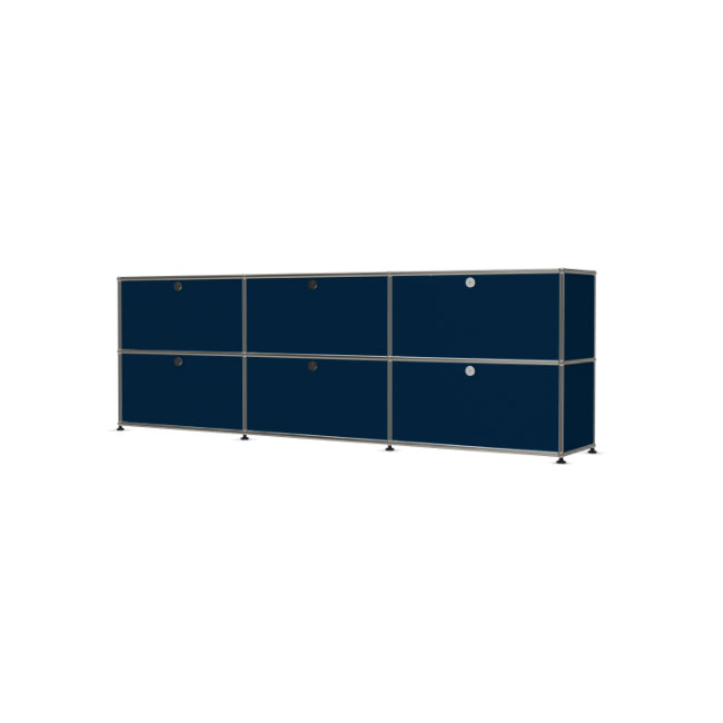[USM Haller/유에스엠 할러] 3x2 Cabinet With 6 Falling Boards // 3x2 캐비넷 위드 6 폴링 보드
