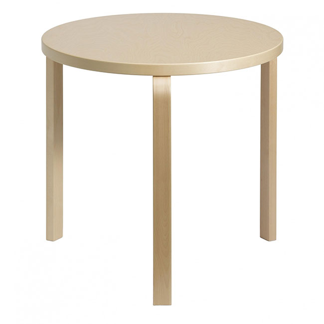 [Artek/아르텍] Aalto Table round 90B (Table top diameter 75 cm) // 알토 테이블 라운드 90B (테이블 탑 직경 75 cm)