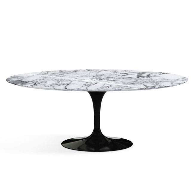 [Knoll/놀] Saarinen Dining Table, Oval 198 x 121 Arabescato marble Black // 사리넨 다이닝 테이블, 오벌 198 x 121 블랙