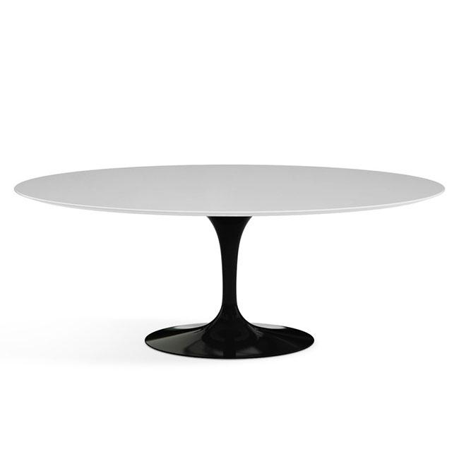 [Knoll/놀] Saarinen Dining Table, Oval 198 x 121 Black // 사리넨 다이닝 테이블, 오벌 198 x 121 블
