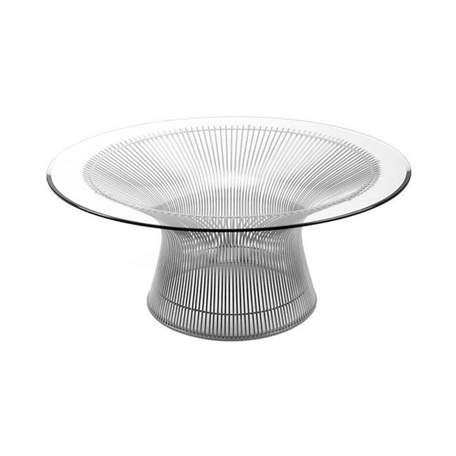 [Knoll/놀] Platner side table, nickel polished (ø91.5 x H38.5cm) // 플래트너 사이드 테이블, 니켈 폴리쉬 (ø91.5 x H38.5cm)