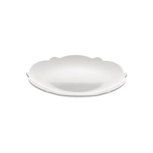 [Alessi/알레시] 드레스드 사이드접시5_화이트/ 그릇/ 플레이트 MW01/5