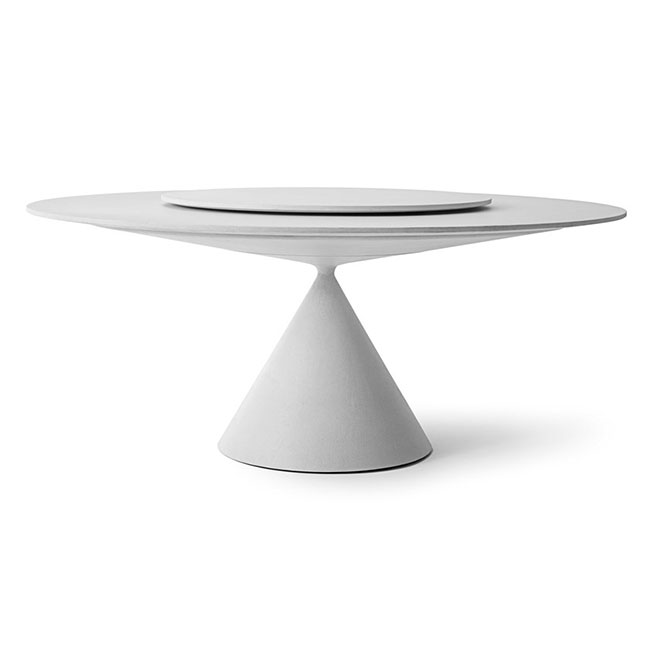 [Desalto/데살토] CLAY - Round table with Lazy Susan