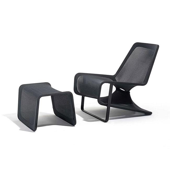 [Desalto/데살토] ARIA - Fabric armchair with footstool
