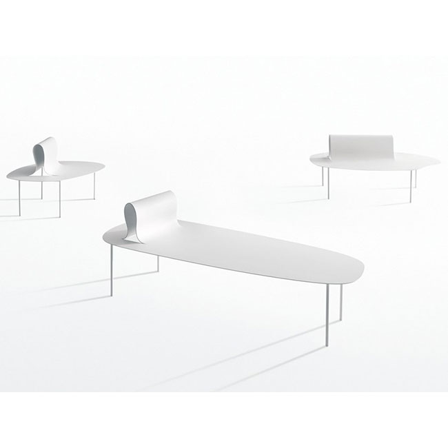 [Desalto/데살토] SOFTER THAN STEEL - Plate bench with back
