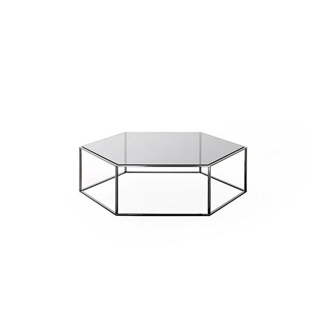 [Desalto/데살토] HEXAGON - Hexagonal crystal and steel coffee table