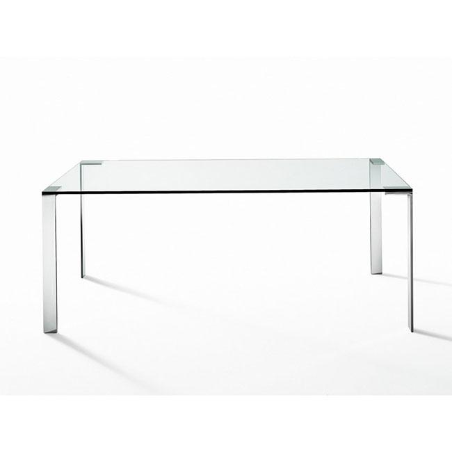 [Desalto/데살토] LIKO GLASS - Glass and steel table, 220x90