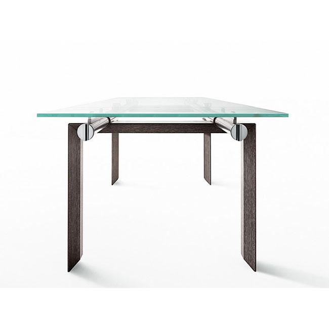 [Desalto/데살토] STILT - Extending rectangular crystal and steel table