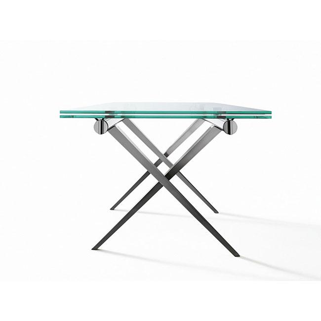 [Desalto/데살토] TENDER - Extending rectangular crystal and steel table