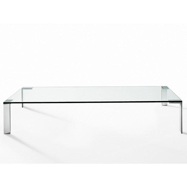 [Desalto/데살토] LIKO GLASS - Rectangular crystal and steel coffee table