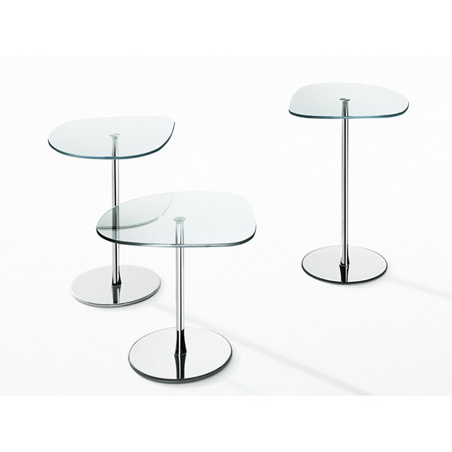 [Desalto/데살토] MIXIT GLASS - Crystal and steel coffee table