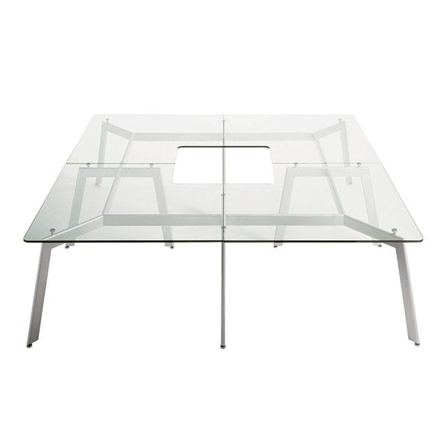 [Desalto/데살토] LINK - Glass and steel table
