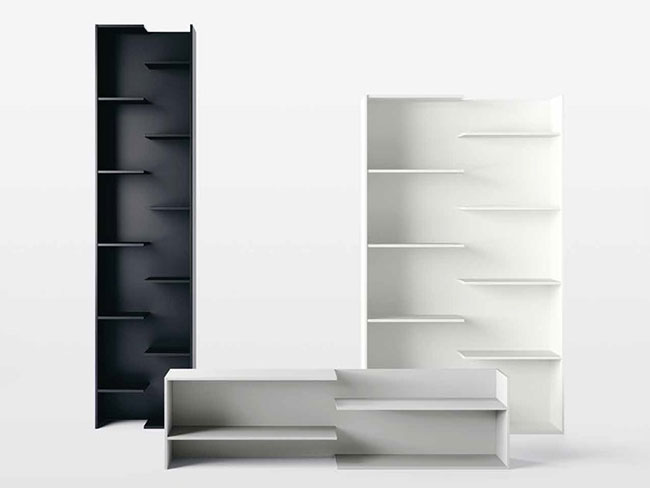 [Desalto/데살토] STEP - Open lacquered engineered wood bookcase