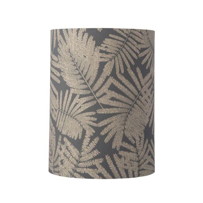 [Ebb&Flow/에브&플로우] Fabric shade Ø30cm 40cmH fern leaves wild grey glitter