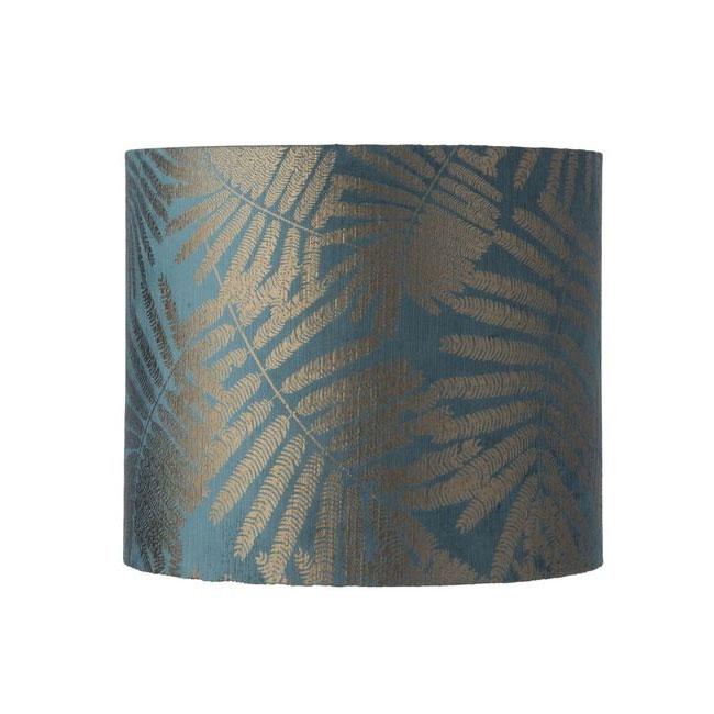 [Ebb&Flow/에브&플로우] Fabric shade Ø35cm 30cmH fern leaves wild teal