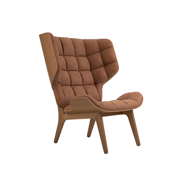 [NORR11] Mammoth Chair with Leather - Light Smoked Oak / Dunes Rust 21002