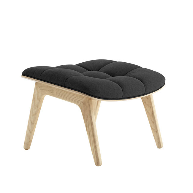 [NORR11] Mammoth Ottoman with Wool - Natural Oak / Wool Coal Grey 67