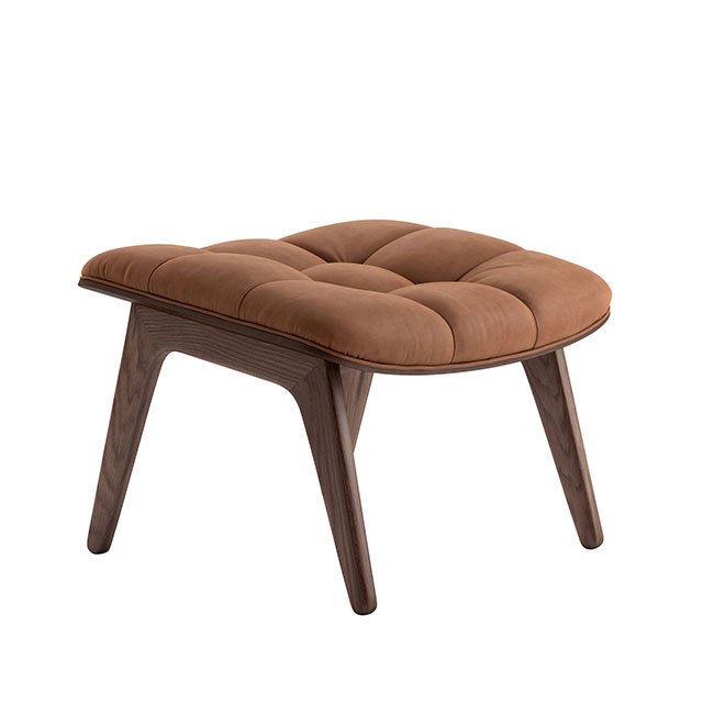 [NORR11] Mammoth Ottoman with Leather - Dark Smoked Oak / Dunes Rust 21002