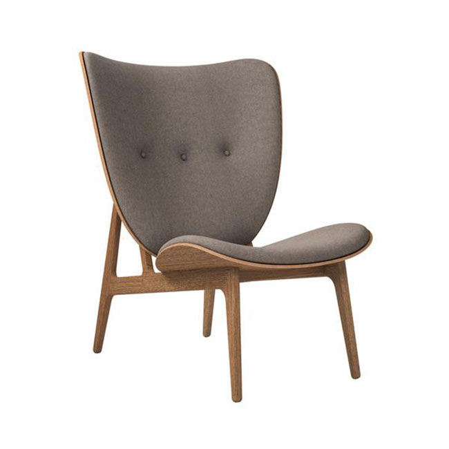 [NORR11] Elephant Lounge with Wool - Light Smoked Oak / Wool Fawn 124