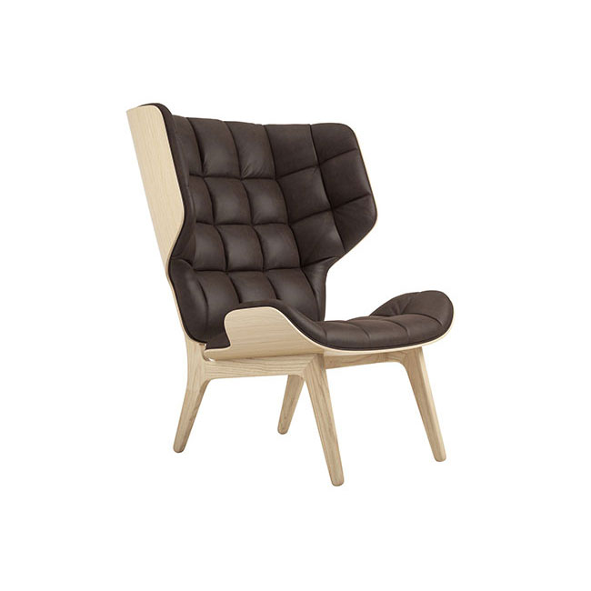 [NORR11] Mammoth Chair with Leather - Natural Oak / Dunes Dark Brown 21001