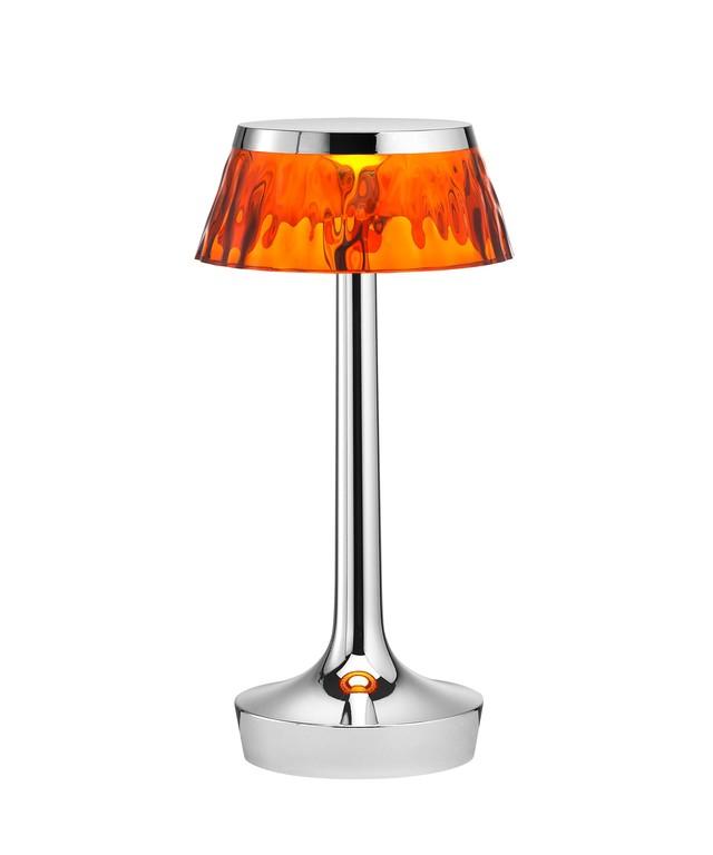 [Flos/플로스] Bon jour Unplugged 테이블 램프 - Chrome Amber // 봉주르 언플러그드 테이블 램프 앰버