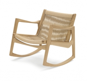 [ClassiCon/클래시콘] Euvira Rocking Chair Oak - Oak Cord // 유비라 락킹 체어 오크 - 오크 코드