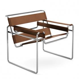 [Knoll/놀] Wassily Chair-Cowhide// 바실리 체어-카우하이드 (Light Brown)