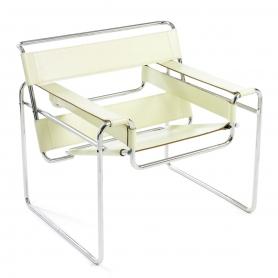 [Knoll/놀] Wassily Chair-Cowhide// 바실리 체어-카우하이드 (White Beige)