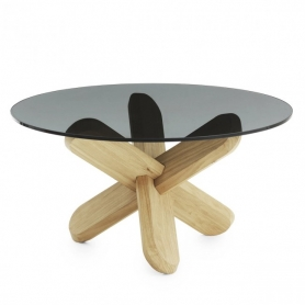 [Normann Copenhagen/노만코펜하겐] Ding Table - Smoke / Oak // 딩 테이블 - Smoke/Oak