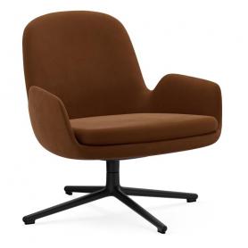 [Normann Copenhagen/노만코펜하겐] Era Lounge Chair Low Swivel Black Alu - City Velvet vol 2 // 에라 라운지체어 로우 스위블 블랙 알루미늄 - City Velvet vol 2